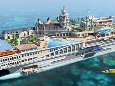 "Street of Monaco, lo yacht ""Principato"""