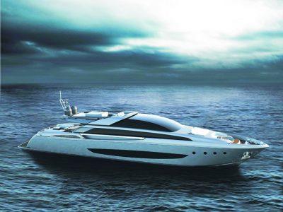Riva 122' Mythos, l'ammiraglia