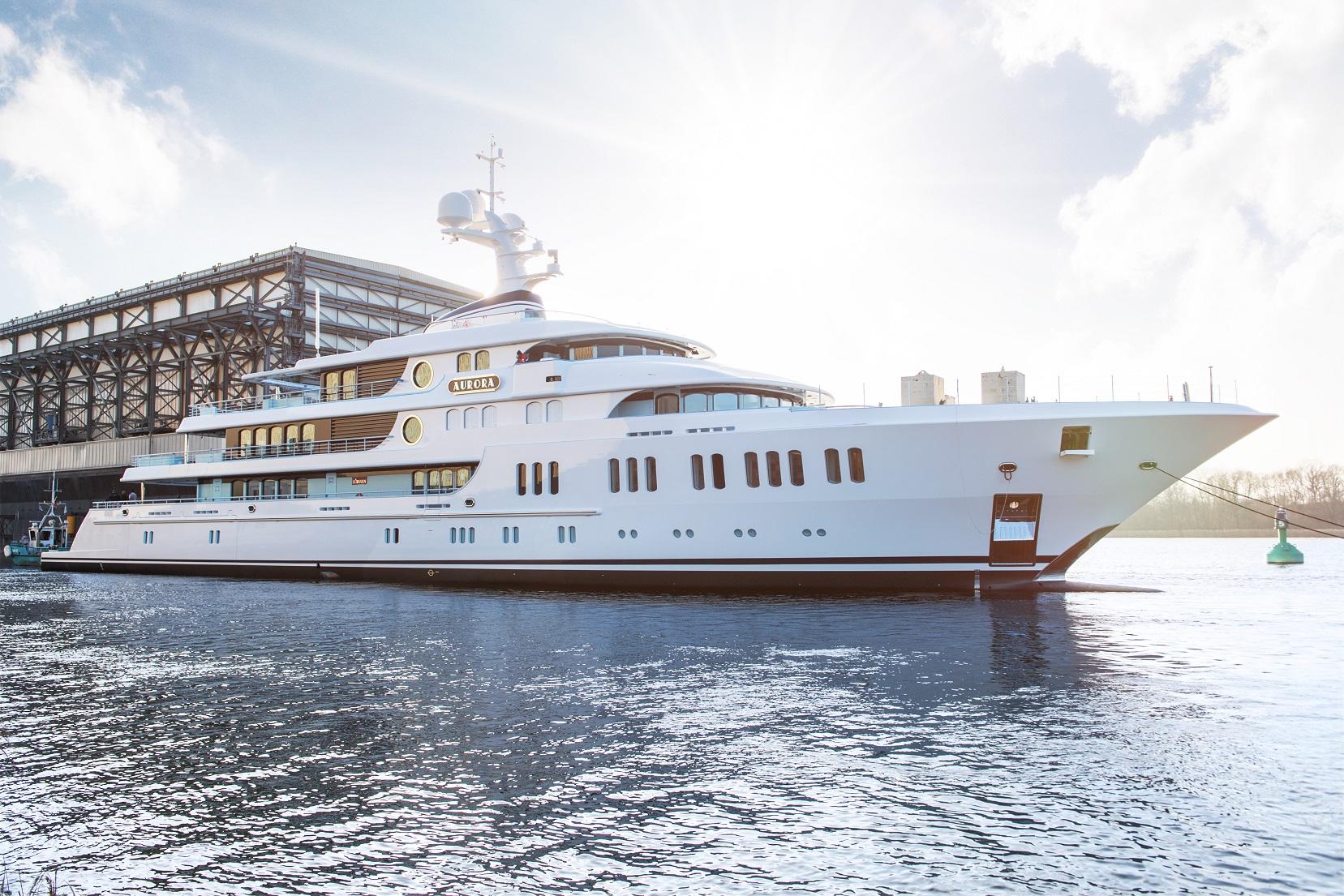 Benvenuta Aurora. Lurssen ha varato il suo ultimo yacht di 74 metri
