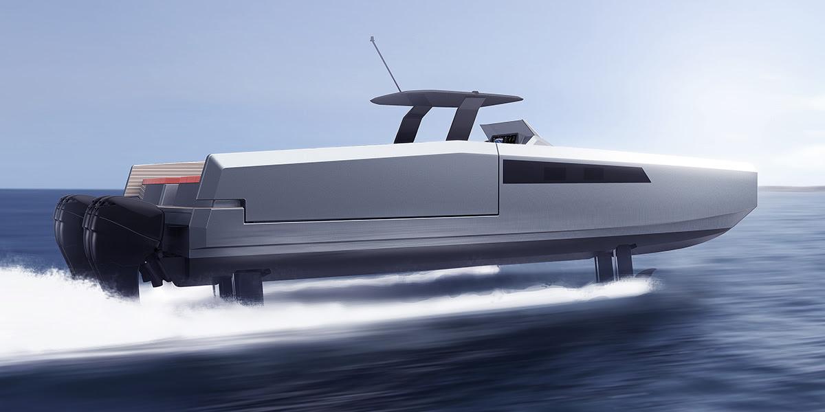 """Sunreef, ecco il 40 Open Power: """"foiling day boat"""""""