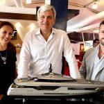 Raffaella Daino, Michele Gavino e Alessandro Diomei by Baglietto Yachts