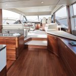 PRINCESS F55 interior-saloon-walnut-satin