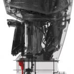Mercury marine Mercury V-6 FourStroke (side profile - XRAY)