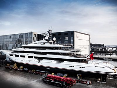 Oceanco launches 90m superyacht DreAMBoat