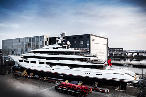 Oceanco launches 90m superyacht DreAMBoat