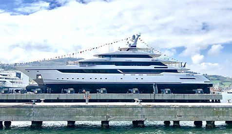 Columbus Yachts launched the gigayacht Columbus 80