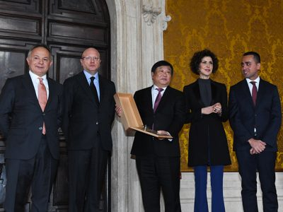 Ferretti group president was awarded at the Premi Leonardo 2018