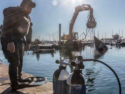 La ricostruzione di Rapallo: il punto di vista di chi lavora sott'acqua