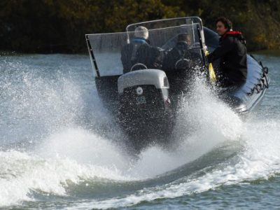 Cox Powertrain at Seawork with its Cox Diesel Outboard