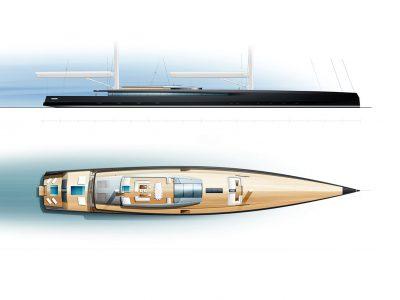 Philippe Briand SY300: an innovative 90m sailyacht