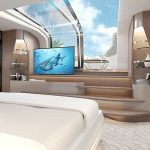 100 yacht Master Stateroom TV -Master Cabin
