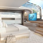 100 yacht Master Stateroom TV -Master Cabin 2