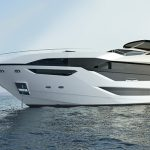 100 yacht render on water