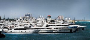 palm beach international boat show picture of the dock with boats