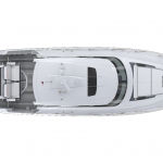 Tiara Sport 43 LE Exterior Plan View with Hardtop