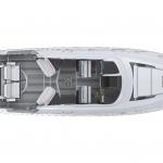 Tiara Sport 43 LE Exterior Plan View without Hardtop