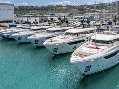 Custom Line, undici yacht già in acqua nel primo semestre 2020