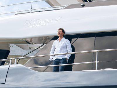 80 Sunreef Power, with Rafael Nadal on board Great White