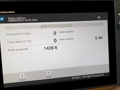I NavNet TZtouch 3 Furuno ora integrano HP Watermakers
