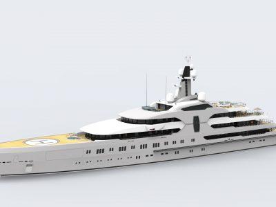 Abdulbaki Şenol, here is his 120m superyacht concept