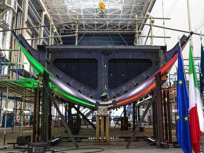 Baglietto 52M TLine, the keel of hull no. 10238 was laid