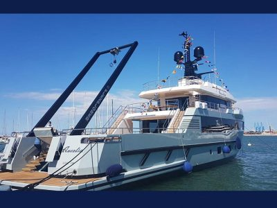 Installata sul M/Y Aurelia la gru A-frame di Advanced Mechanical Solutions