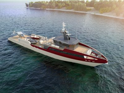 Rosetti Superyachts presents the new 55-meter Support Vessel