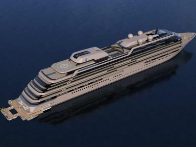 """Njord, more details on the 289-metre """"green"""" residential yacht"""